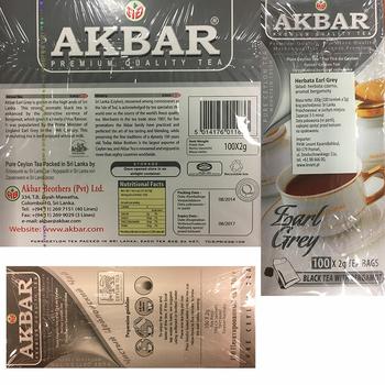 AKBAR EARL GREY 100TBX2G