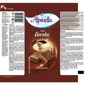 CZEKOLADA ALPINELLA GORZKA 90 G