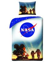 KOMPLET POŚCIELI WZÓR NASA NR 4066 ROZMIAR 140X200 1X70X90 CM