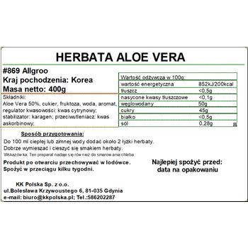 HERBATA ALOE VERA 400G ALLGROO