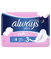 ALWAYS ULTRA SENSITIVE NIGHT PODPASKI ZE SKRZYDEŁKAMI 7 SZT.