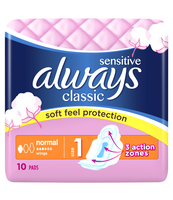 ALWAYS CLASSIC SENSITIVE NORMAL SINGLE 10SZT