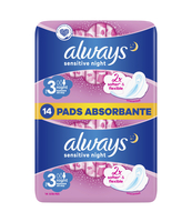 ALWAYS ULTRA SENSITIVE NIGHT PODPASKI 14 SZTUK