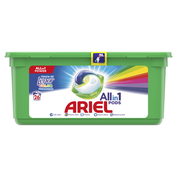 ARIEL ALL-N-1 WITH A TOUCH OF LENOR COLOR FRESHNESS, KAPSUŁKI DO PRANIA, 26 SZT