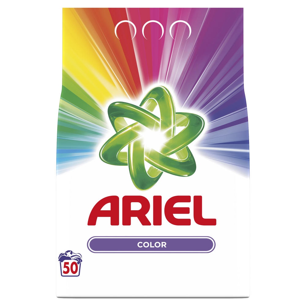 ARIEL COLOR PROSZEK DO PRANIA, 50 PRAŃ, 3,75KG
