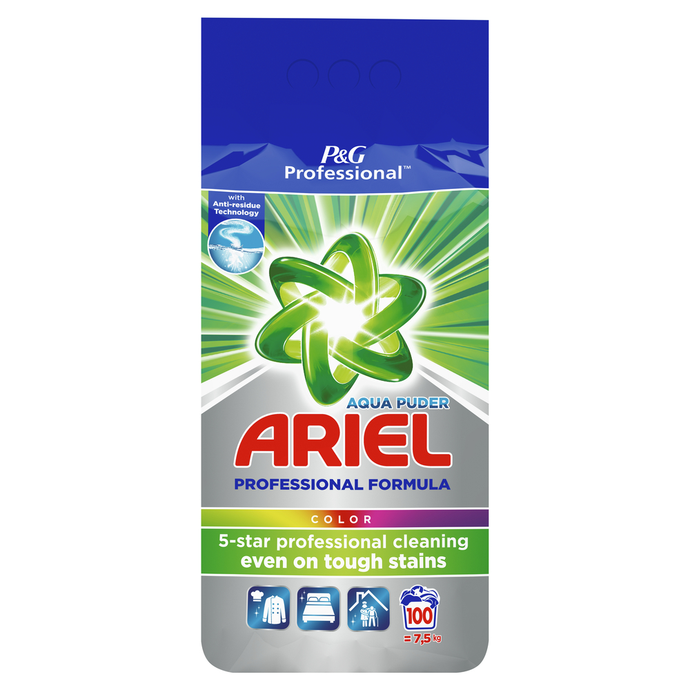ARIEL PROFESSIONAL COLOR PROSZEK DO PRANIA 100 PRAŃ (7,5KG)