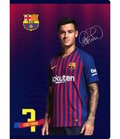 ZESZYT MO A5 16K TRZY LINIE KOLOR FC BARCELONA BARCA FAN 7