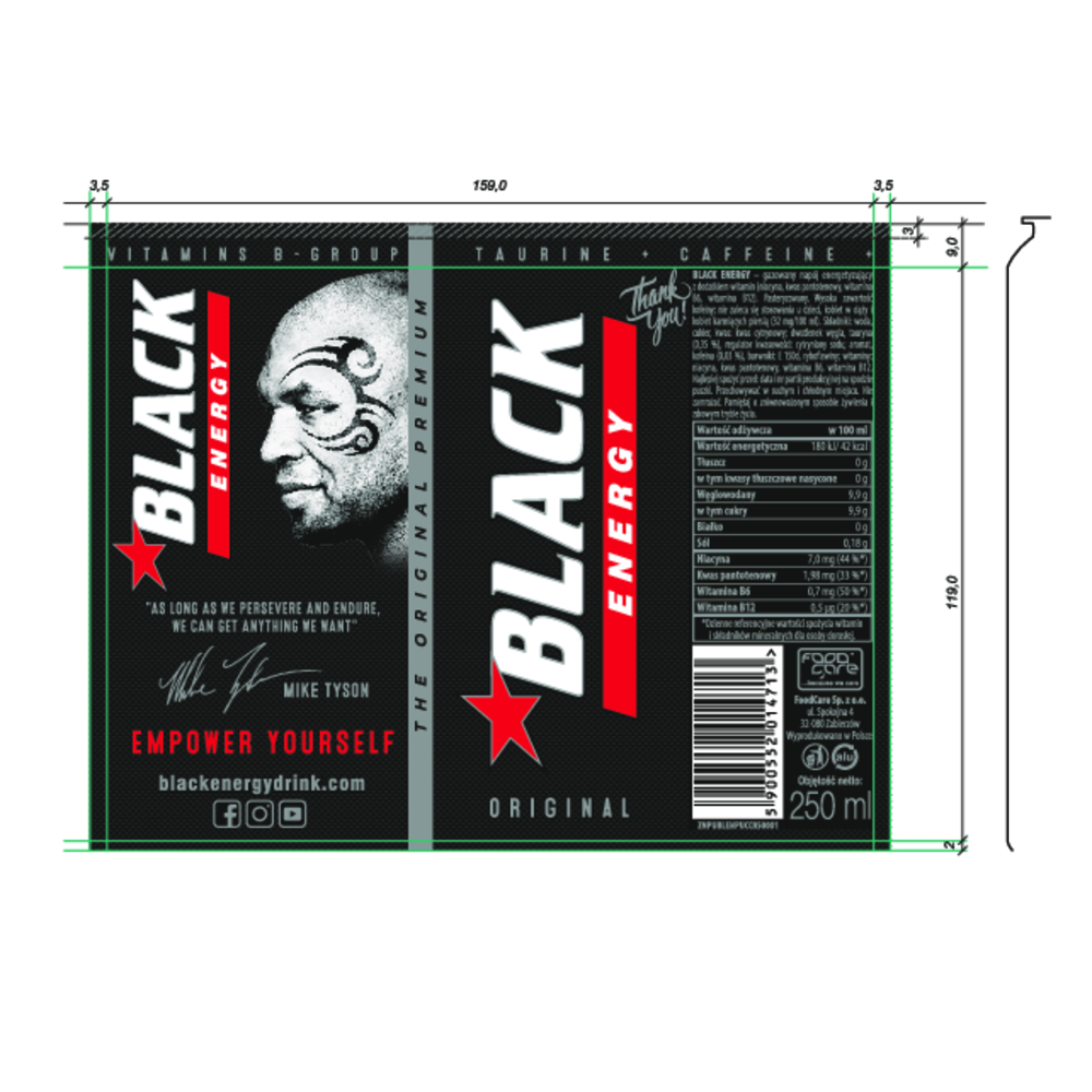 BLACK ENERGY 250ML