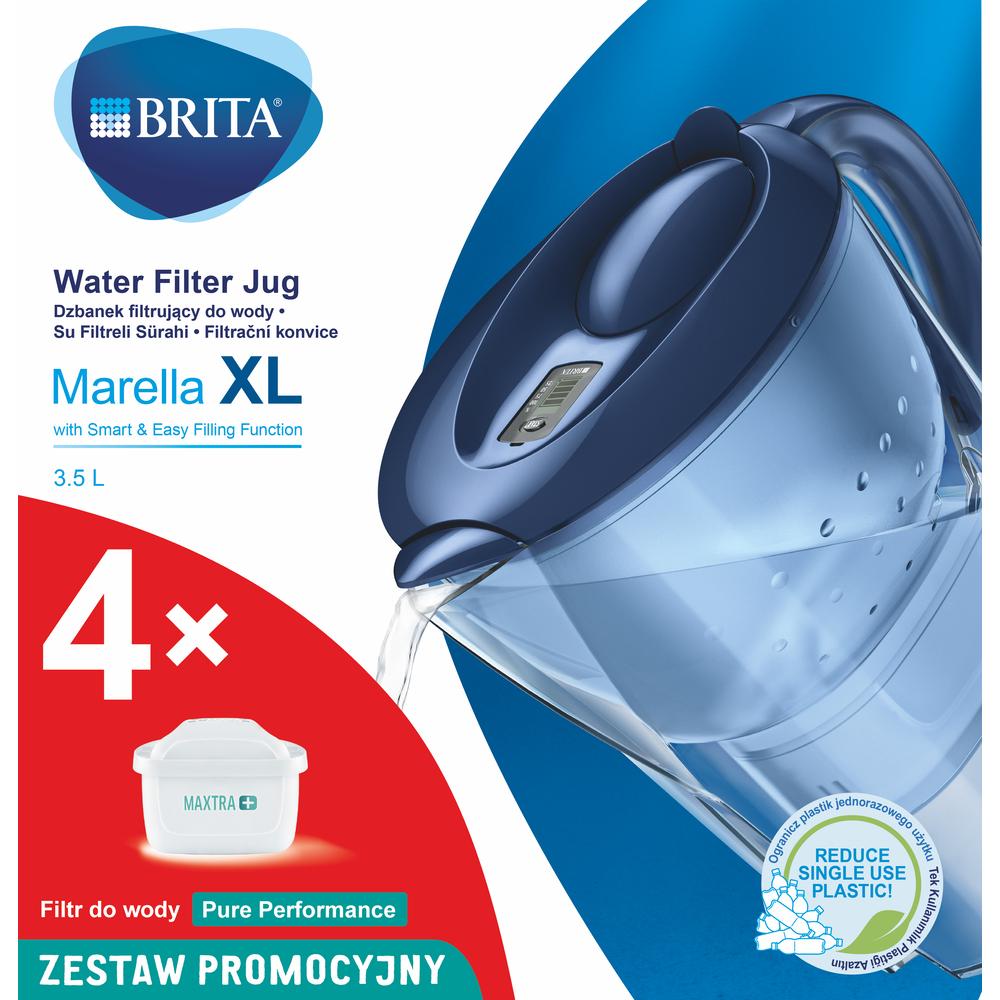 DZBANEK Z FILTREM BRITA MARELLA XL GRANATOWY + 4 MX+ PURE PERFORMANCE