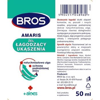BROS - AMARIS - ŻEL ŁAGODZĄCY UKĄSZENIA 50ML