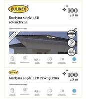 KURTYNA SOPLE LED 100L Z DOD.GN. ZEWNĘTRZNA 4,8M DEKORACJI