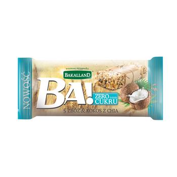 BA! BATON 5 ZBÓŻ KOKOS & CHIA 30G BAKALLAND