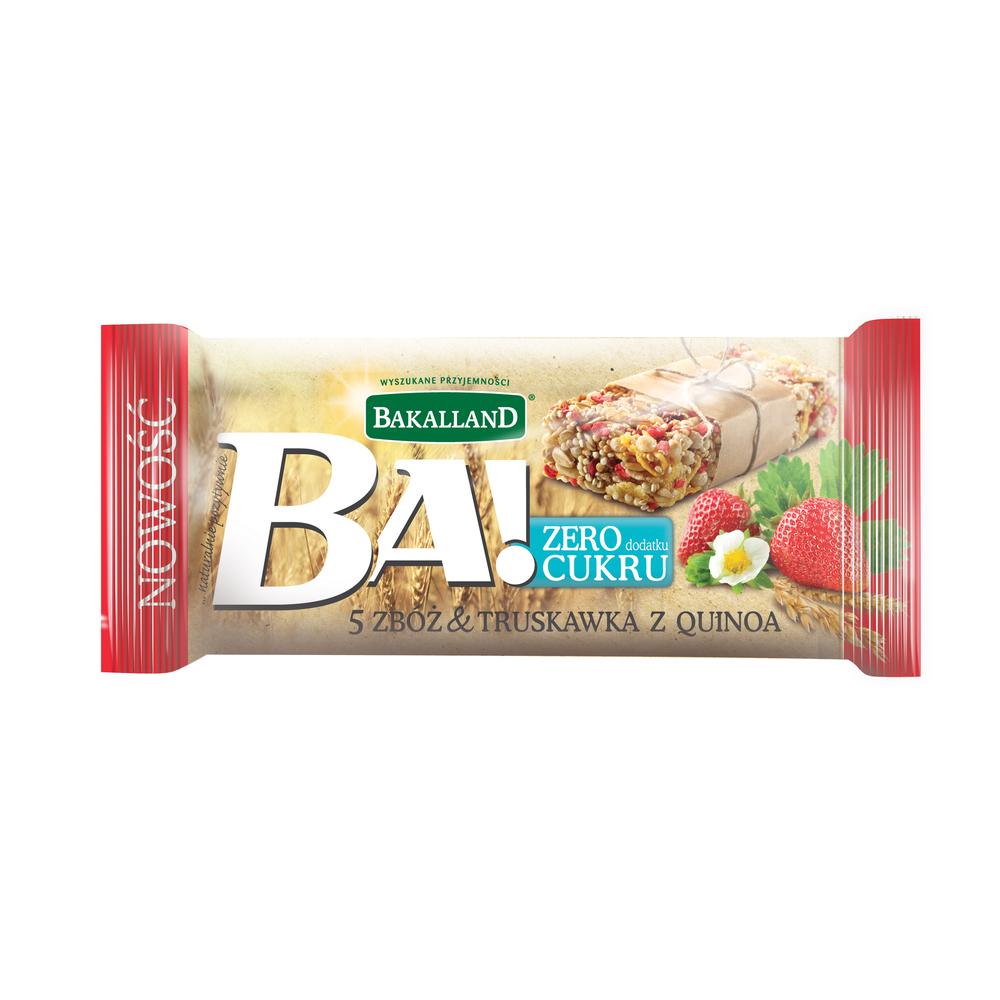 BA! BATON 5 ZBÓŻ TRUSKAWKA & QUINOA 30G BAKALLAND