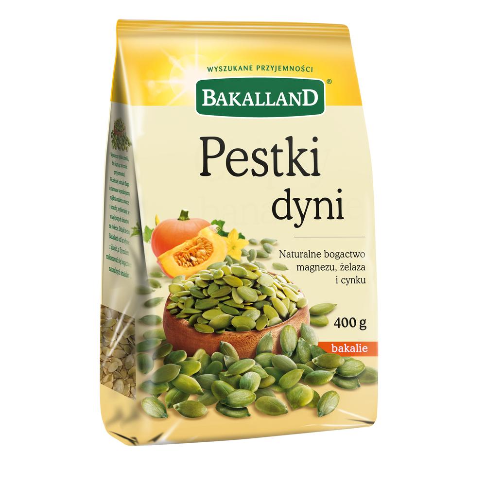 PESTKI DYNI ŁUSKANE 400G BAKALLAND
