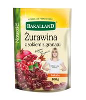 SELECTION ŻURAWINA Z SOKIEM Z GRANATU 100G BAKALLAND