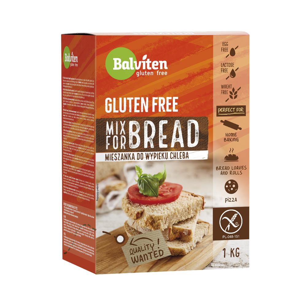 BALVITEN MIX FOR BREAD. MIESZANKA DO WYPIEKU CHLEBA 1000G.PRODUKT BEZGLUTENOWY