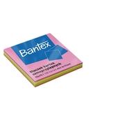 BLOCZKI SAMOPRZYLEPNE BANTEX 75X75 MM, 100 KARTEK, MIX KOLORÓW
