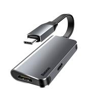 ADAPTER USB TYP-C BASEUS ENJOYMENT 2W1 SREBRNY