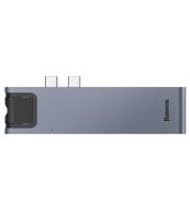 ADAPTER USB TYP-C BASEUS ENJOYMENT 7W1 SREBRNY