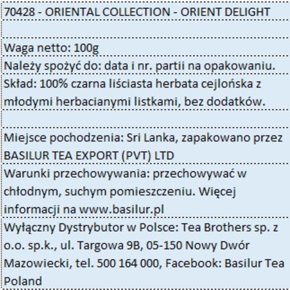 BASILUR HERBATA CEJLOŃSKA - ORIENT DELIGHT 100G