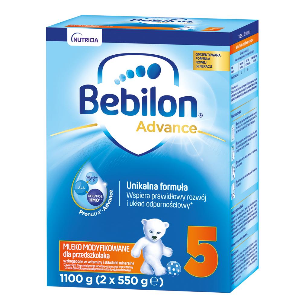 BEBILON 5 PRONUTRAADVANCE MLEKO MODYFIKOWANE DLA PRZEDSZKOLAKA 1100 G