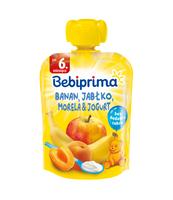 BEBIPRIMA BANAN, JABŁKO, MORELA & JOGURT, PO 6. MIESIĄCU, 90 G