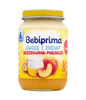 BEBIPRIMA OWOCE I JOGURT BRZOSKWINIA-MARAKUJA 190G
