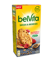 BELVITA SEEDS & BERRIES RASPBERRY & CHIA SEEDS 270G