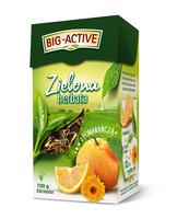 BIG-ACTIVE - HERBATA ZIELONA Z POMARAŃCZĄ 100G
