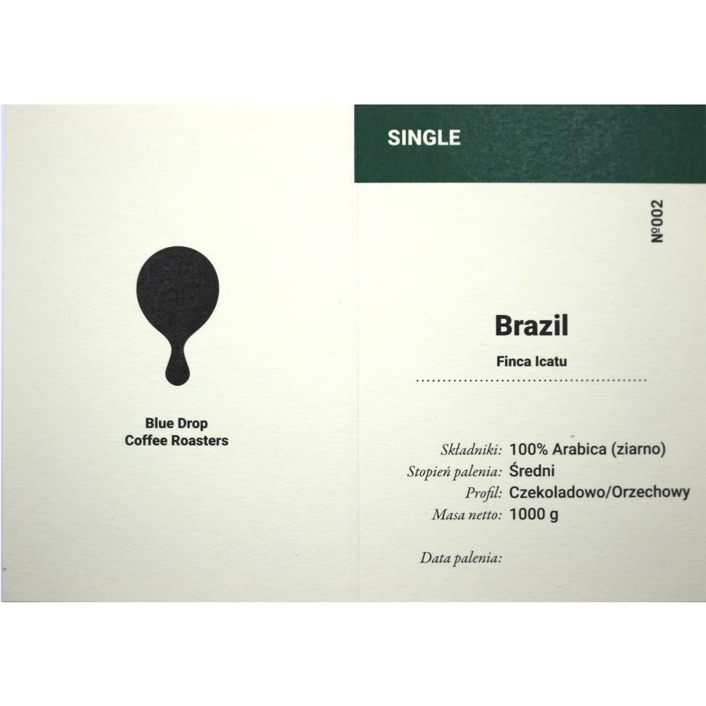BLUE DROP FINCA ICATU (BRAZYLIA) ZIARNO 1KG