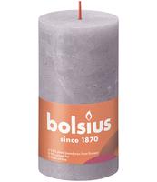 BOLSIUS ŚWIECA PIEŃKOWA RUSTIC 130/68 SHINE MATOWA LAWENDA