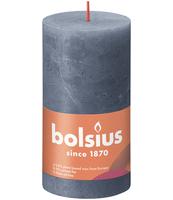 BOLSIUS ŚWIECA PIEŃKOWA RUSTIC 130/68 SHINE WIECZORNY NIEBIESKI