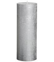 ŚWIECA RUSTIC METALLIC 190/68 SREBRNA