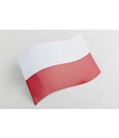 FLAGA MAGNETYCZNA POLSKA NA KLAPĘ BAGAŻNIKA, WYMIARY: 15X21CM