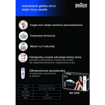 DEPILATOR IPL BRAUN SILK - EXPERT BD 5009