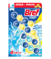 BREF POWER AKTIV SOCZYSTA CYTRYNA+MORSKA BRYZA 4X50G
