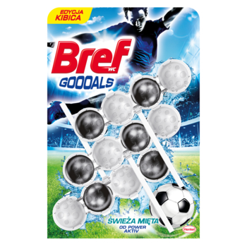 BREF POWER AKTIV GOOOALS ŚWIEŻA MIĘTA 3X50G