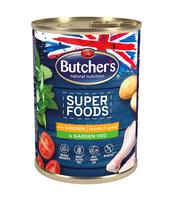 BUTCHER'S SUPER FOODS DOG GARDEN VEG Z KURCZAKIEM I WARZYWAMI KAWAŁKI W SOSIE 400G