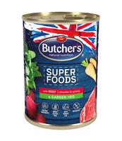 BUTCHER'S SUPER FOODS DOG GARDEN VEG Z WOŁOWINĄ I WARZYWAMI KAWAŁKI W SOSIE 400G