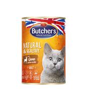 BUTCHER'S NATURAL&HEALTHY CAT Z DZICZYZNĄ KAWAŁKI W GALARECIE 400G