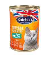 BUTCHER'S NATURAL&HEALTHY CAT Z RYBĄ MORSKĄ KAWAŁKI W GALARECIE 400G