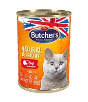 BUTCHER'S NATURAL&HEALTHY CAT Z WOŁOWINĄ KAWAŁKI W GALARECIE 400G