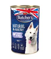 BUTCHER'S NATURAL&HEALTHY DOG Z JAGNIĘCINĄ I RYŻEM PASZTET 390G