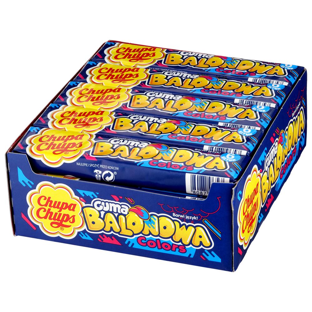CHUPA CHUPS GUMA BALONOWA COLORS 27,6G