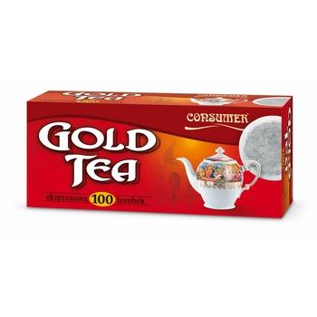 CONSUMER HERBATA EKSPRESOWA GOLD TEA 130G (100X1,3G)
