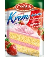 KREM DO TORTÓW O SMAKU TRUSKAWKOWYM 100G CYKORIA