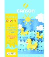 PAPIER KOLOROWY CANSON A5 10 KOLORÓW