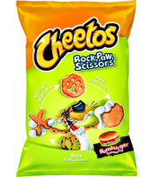 CHEETOS ROCK PAW SCISSOR NDP HAMBURGER 145GX14 XL