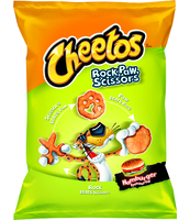 CHEETOS ROCK PAW SCISSOR NDP HAMBURGER 85G