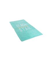 RĘCZNIK PLAŻOWY WELUROWY STAR BLUE 90X170 CM